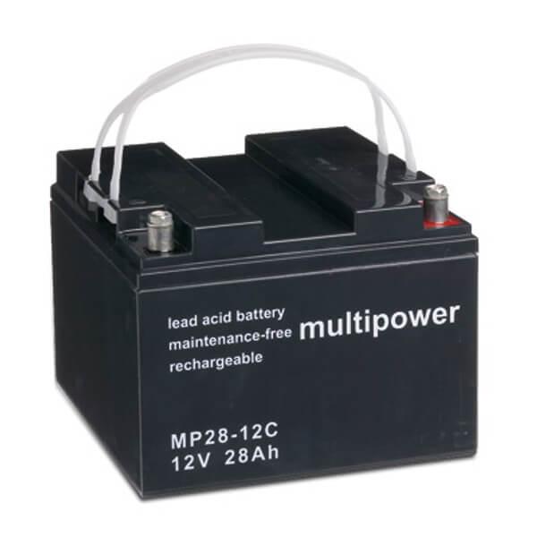 Multipower MP28-12C 12V 28Ah Blei-Akku / AGM Batterie Zyklenfest