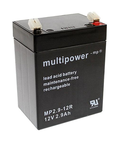 Multipower MP2.9-12R 12V 2,9Ah Blei-Akku / AGM Batterie