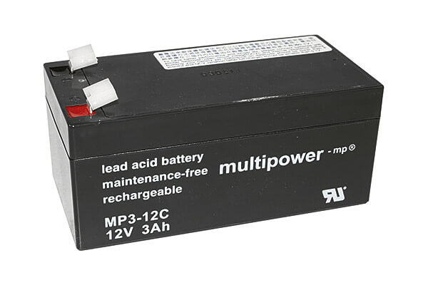 Multipower MP3-12C 12V 3Ah Blei-Akku / AGM Batterie Zyklenfest