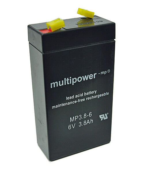 Multipower MP3.8-6 6V 3,8Ah Blei-Akku / AGM Batterie