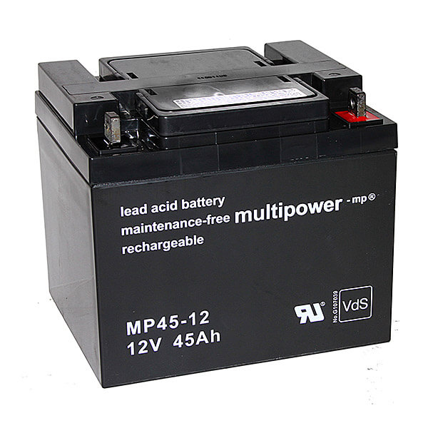 Multipower MP45-12 VdS 12V 45Ah Blei-Akku / AGM Batterie
