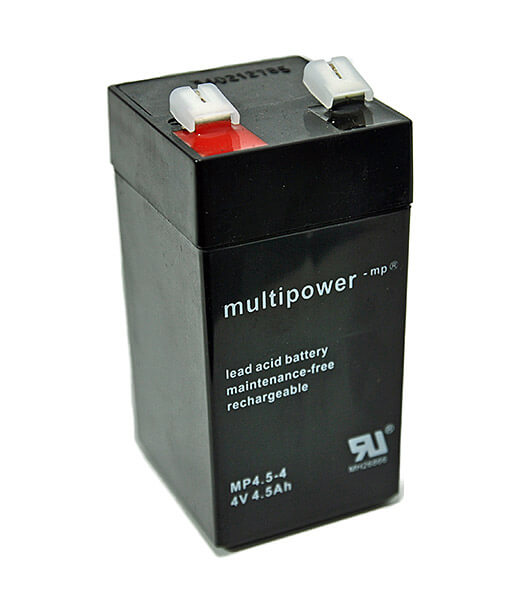 Multipower MP4.5-4 4V 4,5Ah Blei-Akku / AGM Batterie