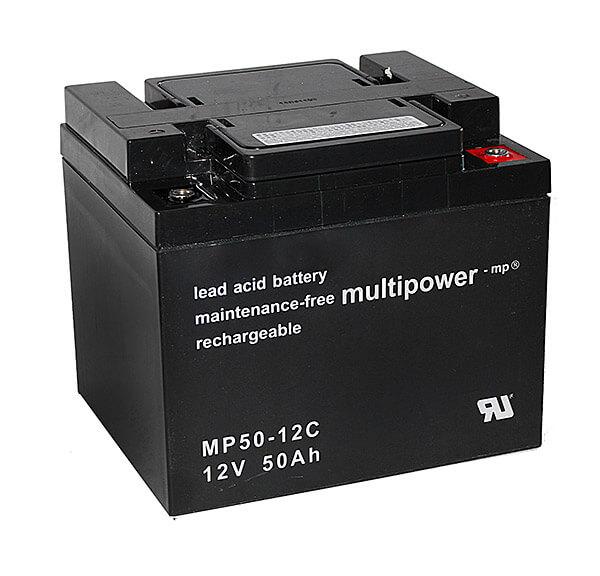 Multipower MP50-12C 12V 50Ah Blei-Akku / AGM Batterie Zyklenfest