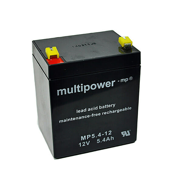 Multipower MP5.4-12 12V 5,4Ah Blei-Akku / AGM Batterie