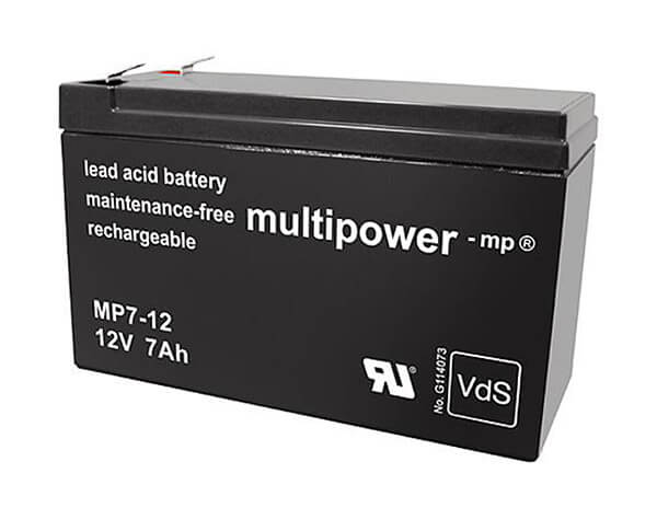Multipower MP7-12 VdS 12V 7Ah Blei-Akku / AGM Batterie