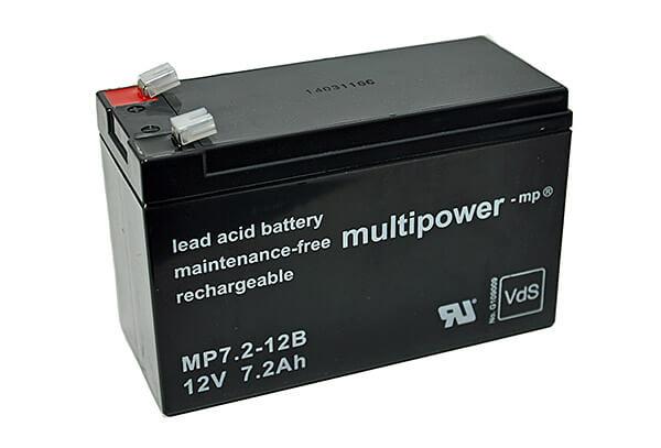 Multipower MP7.2-12B VdS 12V 7,2Ah Blei-Akku / AGM Batterie