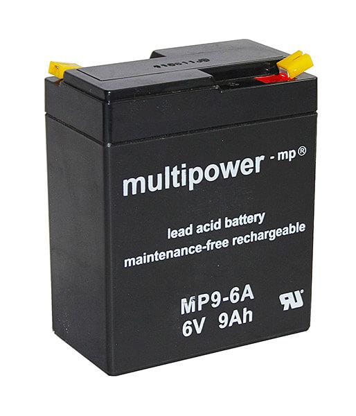 Multipower MP9-6A 6V 9Ah Blei-Akku / AGM Batterie