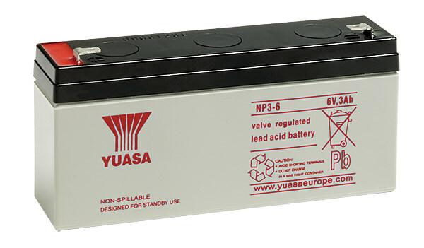 Yuasa NP3-6 6V 3Ah Blei-Akku / AGM Batterie