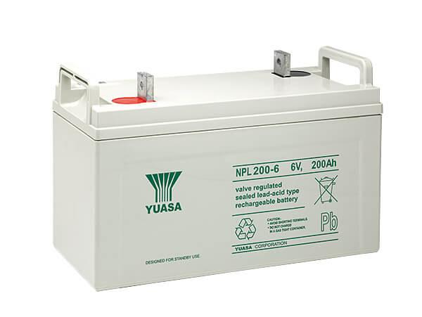 Yuasa NPL200-6 6V 200Ah Blei-Akku / AGM Batterie Longlife