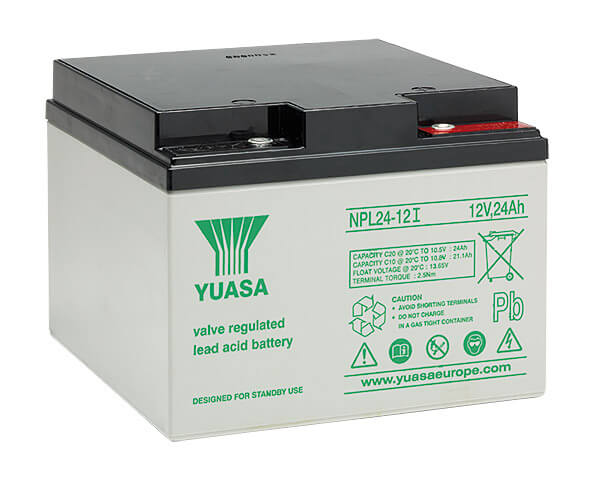 Yuasa NPL24-12I 12V 24Ah Blei-Akku / AGM Batterie Longlife