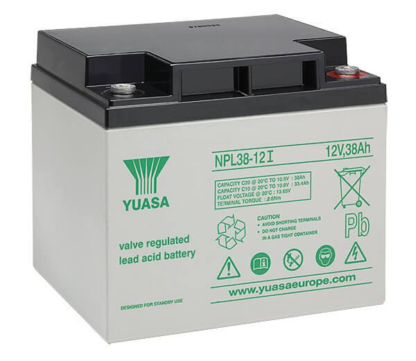 Yuasa NPL38-12I 12V 38Ah Blei-Akku / AGM Batterie Longlife
