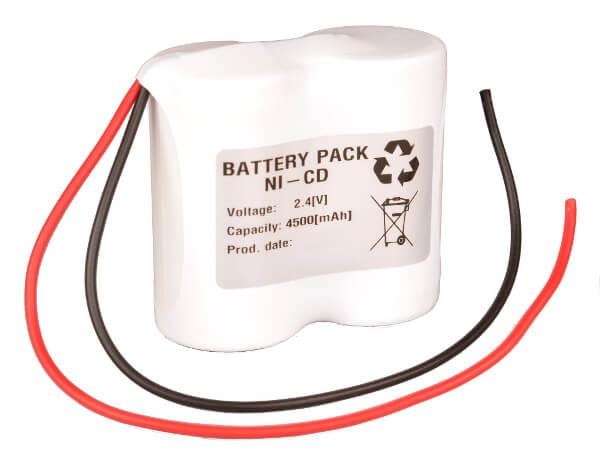 Akkupack Notlicht Notbeleuchtung 2,4V / 4500mAh (4,5Ah) 2er Reihe mit Kabel