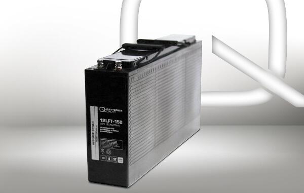 Q-Batteries Frontterminal 12LFT-150 12V 150Ah Blei-Akku / AGM Batterie