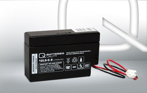 Q-Batteries 12LS-0.8 JST 12V 0,8Ah AGM Batterie Akku