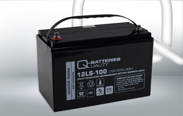 Q-Batteries 12LS-100 12V 107Ah AGM Batterie Akku