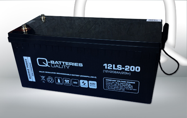 Q-Batteries 12LS-200 12V 208Ah AGM Batterie Akku