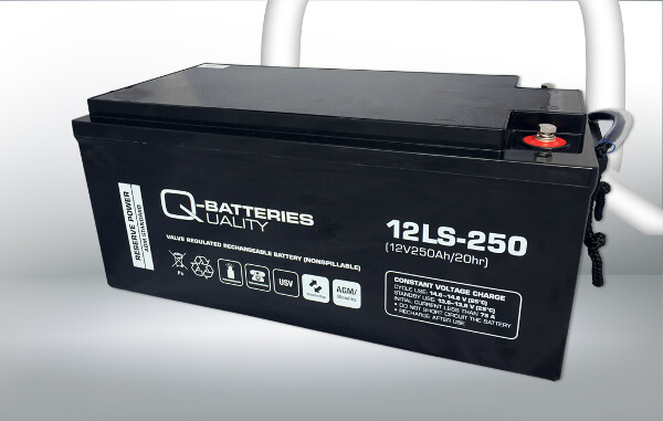 Q-Batteries 12LS-250 12V 250Ah AGM Batterie Akku