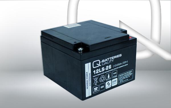 Q-Batteries 12LS-26 12V 26Ah AGM Batterie Akku VdS