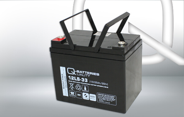 Q-Batteries 12LS-33 12V 35Ah AGM Batterie Akku