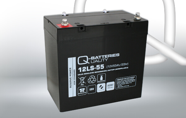Q-Batteries 12LS-55 12V 55Ah AGM Batterie Akku