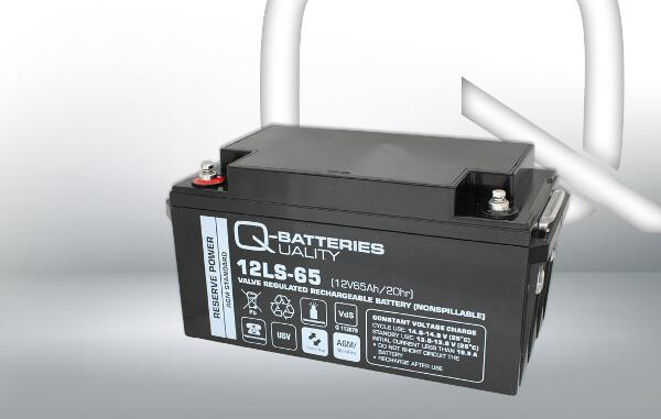 Q-Batteries 12LS-65 12V 65Ah AGM Batterie Akku VdS
