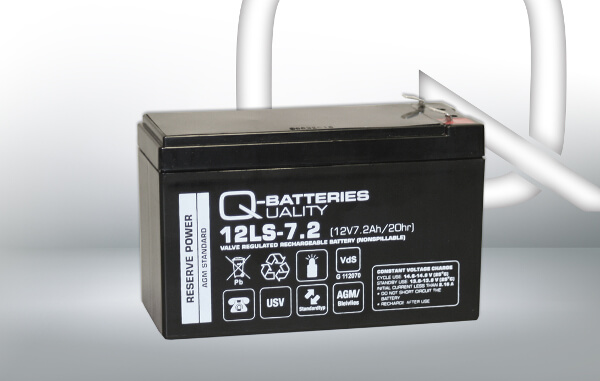 Q-Batteries 12LS-7.2 12V 7,2Ah AGM Batterie Akku VdS F1 4,75mm