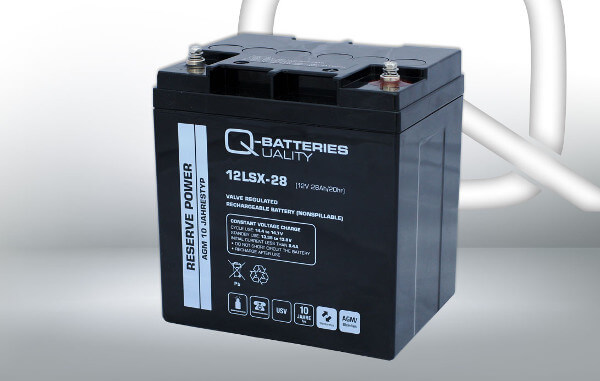 Q-Batteries 12LSX-28 12V 28Ah AGM Batterie Akku Longlife