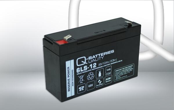 Q-Batteries 6LS-12 6V 12Ah AGM Batterie Akku VdS