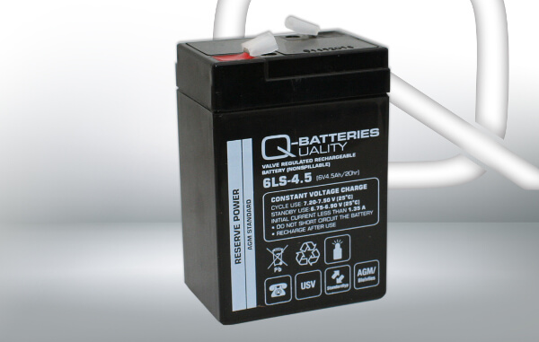 Q-Batteries 6LS-4.5 6V 4,5Ah AGM Batterie Akku
