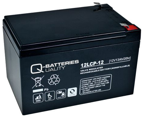 Q-Batteries 12LCP-12 12V 13Ah Blei-Akku / AGM Batterie Zyklentyp