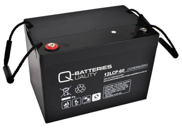Q-Batteries 12LCP-60 12V 63Ah Blei-Akku / AGM Batterie Zyklentyp