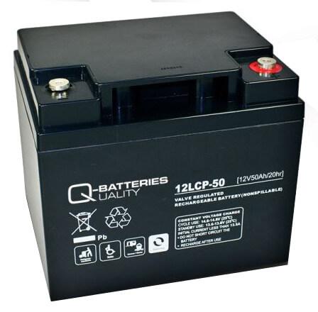 Q-Batteries 12LCP-50 12V 50Ah Blei-Akku / AGM Batterie Zyklenfest