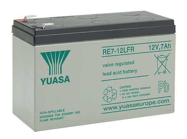 Yuasa RE7-12L 12V 7Ah Blei-Akku / AGM Batterie