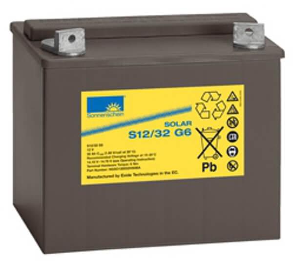 Sonnenschein Solar S12/32 G6 12V 32Ah Blei Gel-Batterie