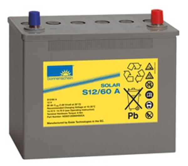 Sonnenschein Solar S12/60 A 12V 60Ah Blei Gel-Batterie