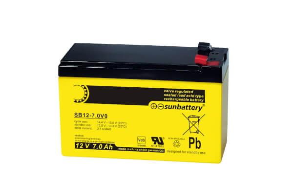 Sun Battery SB12-7.0V0 12V 7Ah Bleiakku Faston 187 Anschluss