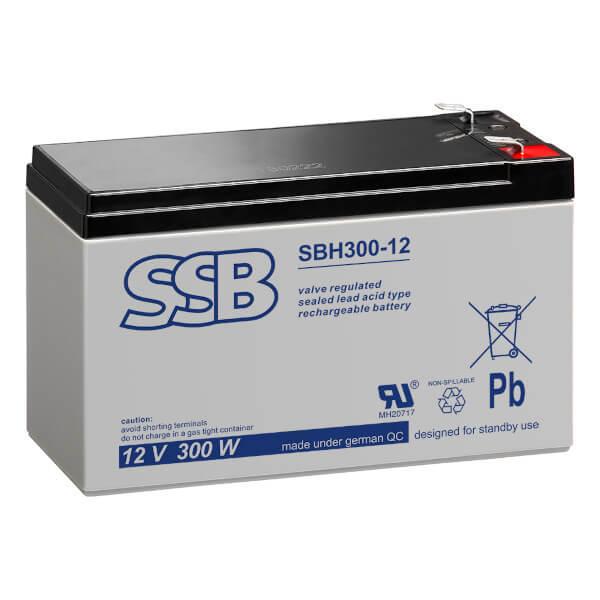 SSB SBH300-12 Akku / Batterie - 12V 300W AGM Hochstrom