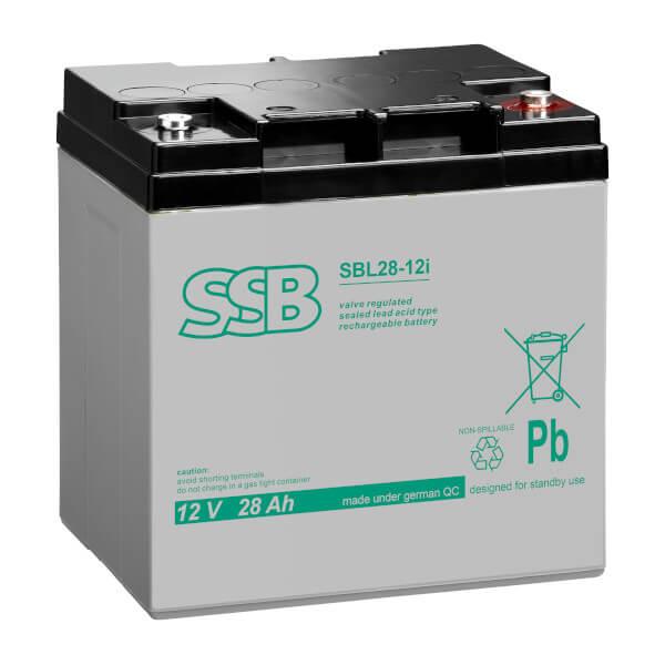 SSB SBL28-12i Akku / Batterie - 12V 28Ah AGM Longlife