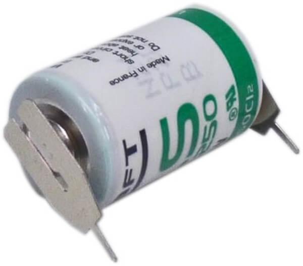 Saft Lithium Batterie LS14250 | 2PF mit + Pol/ - Pol als Einzelspieß