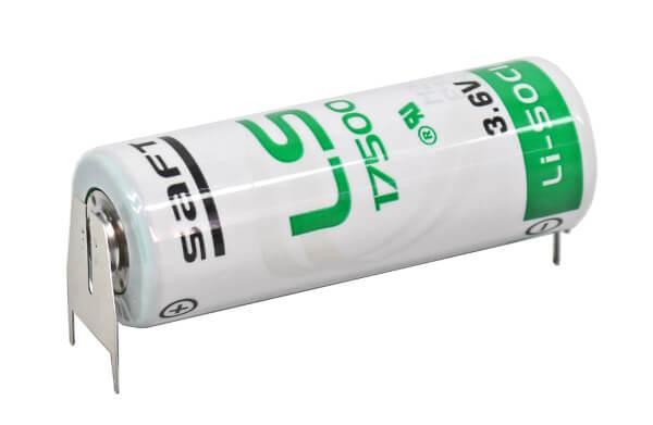Saft Lithium Batterie LS17500 | 3PF + Pol Doppelspieß / - Pol Einzelspieß