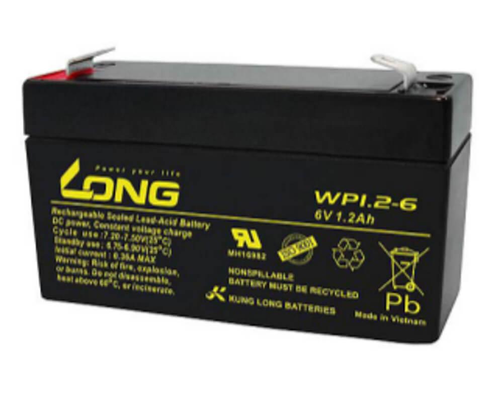 Kung Long WP1.2-6 6V 1,2Ah Blei-Akku / AGM Batterie
