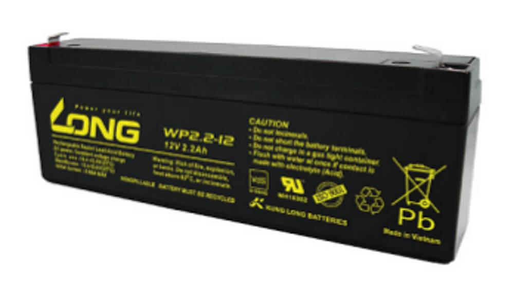 Kung Long WP2.2-12 12V 2,2Ah Blei-Akku / AGM Batterie mit VdS-Zulassung