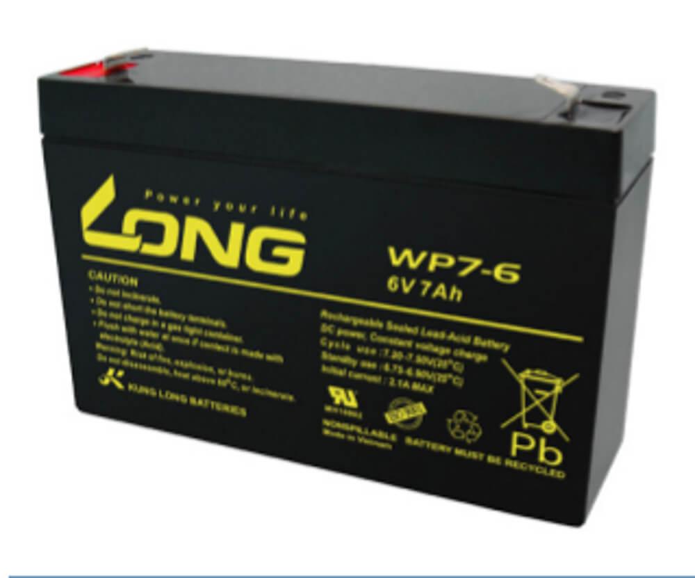 Kung Long WP7-6 6V 7Ah Blei-Akku / AGM Batterie