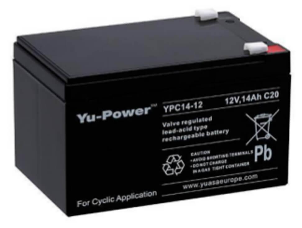 Yuasa YPC14-12 12V 14Ah Blei-Akku / AGM Batterie Zyklentyp