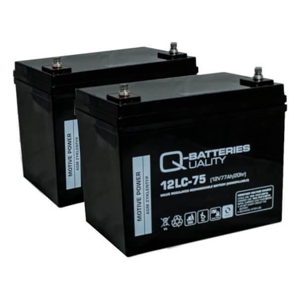 Ersatzbatterie Set für E-Rollstuhl ORTOPEDIA Allround 970 - 2x 12V 77Ah