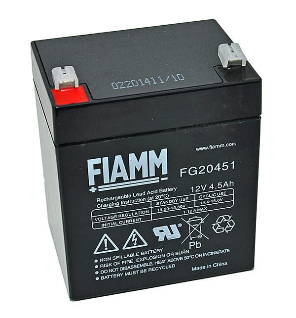 Fiamm FG20451 12V 4,5Ah Blei-Akku / AGM Batterie