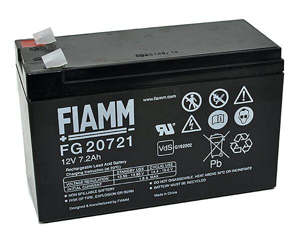 Fiamm FG20721 12V 7,2Ah Blei-Akku / AGM Batterie