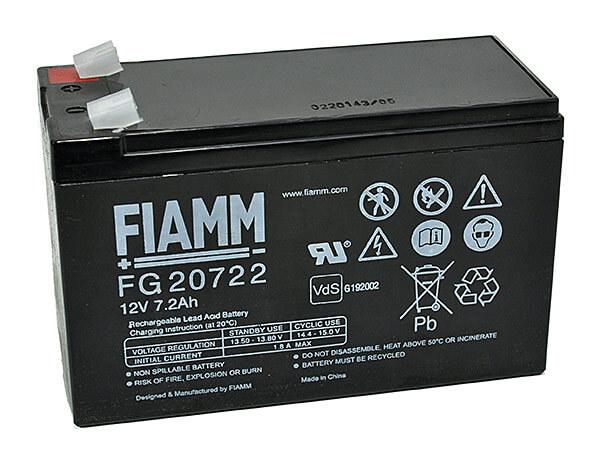 Fiamm FG20722 12V 7,2Ah Blei-Akku / AGM Batterie