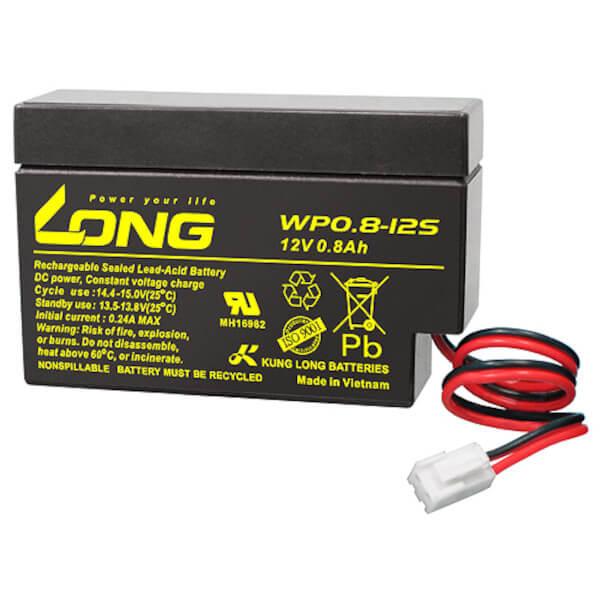 Kung Long WP0.8-12S 12V 0,8Ah Akku mit JST Stecker