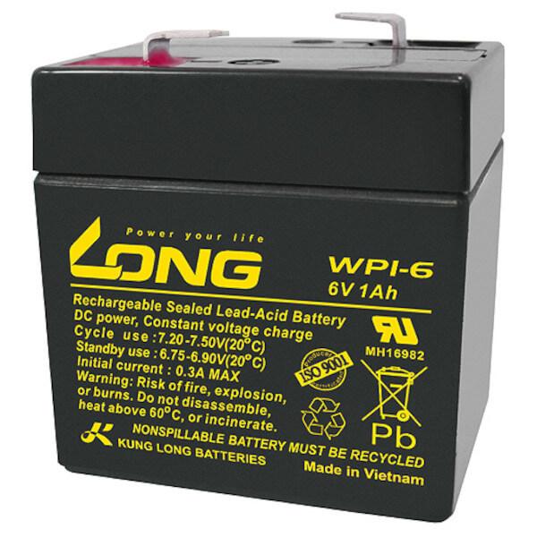Kung Long WP1-6 - 6V 1Ah Blei-Akku / AGM Batterie